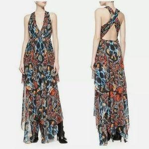Alice + Olivia floral maxi dress size 2